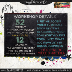 Art Journal Caravan™ Workshop Expedition 2014 {Self-Study}