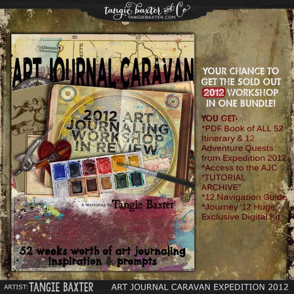 Art Journal Caravan™ Workshop Expedition 2012 {Self-Study}