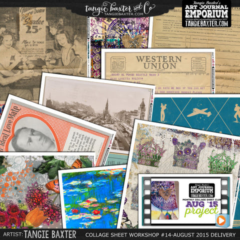 -Collage Sheet Workshop #14 {August '15 Delivery}