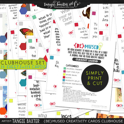 -{BE}MUSED Creativity Cards-Clubhouse Archive Collection