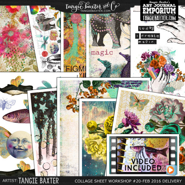 -Collage Sheet Workshop #20 {February '16 Delivery}