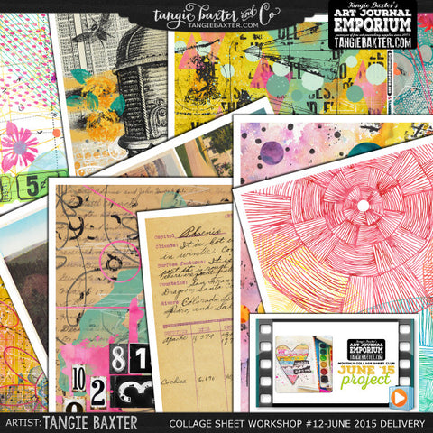 -Collage Sheet Workshop #12 {June '15 Delivery}