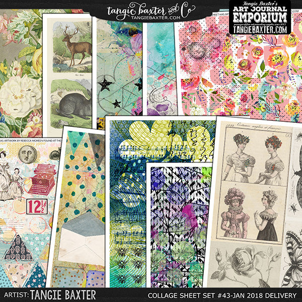 -Collage Sheet Set #43 {Jan '18 Delivery}