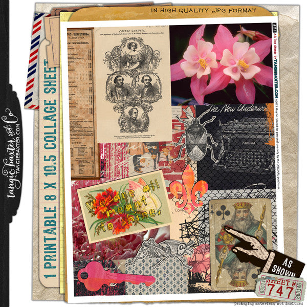 ARTist Collage Sheet #747