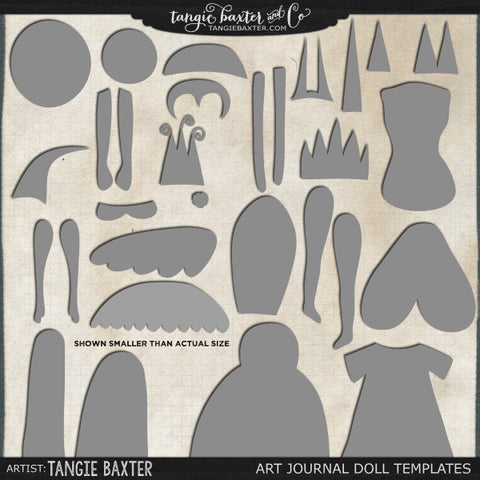 Art Journal Doll Templates