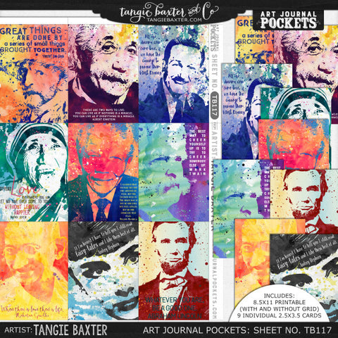 Art Journal Pockets™ Sheet No. 117