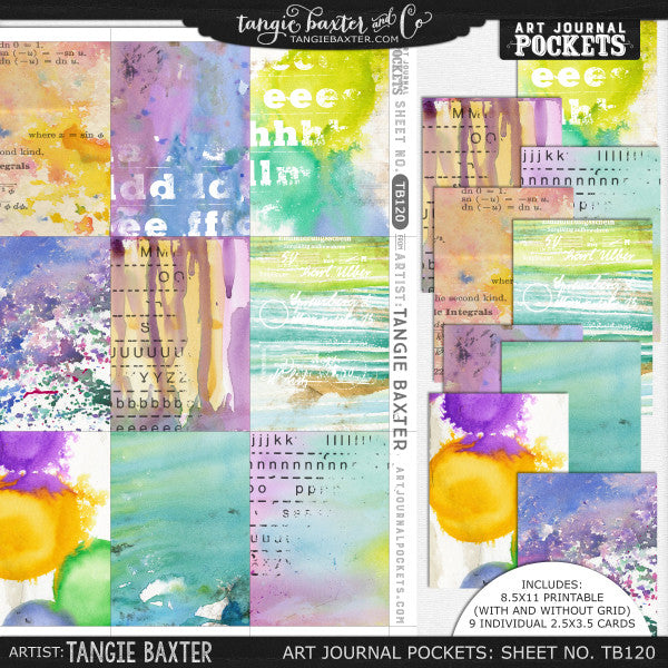 Art Journal Pockets™ Sheet No. 120