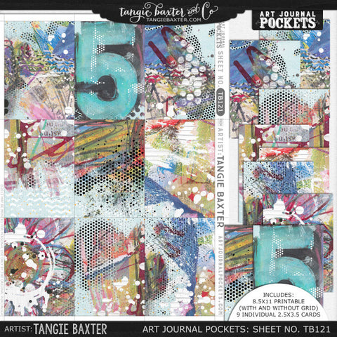 Art Journal Pockets™ Sheet No. 121