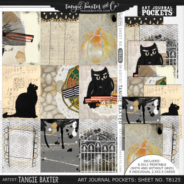 Art Journal Pockets™ Sheet No. 125