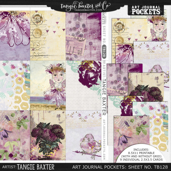 Art Journal Pockets™ Sheet No. 128
