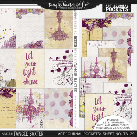 Art Journal Pockets™ Sheet No. 129