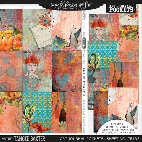 Art Journal Pockets™ Sheet No. 132