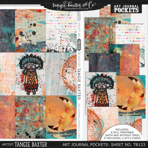 Art Journal Pockets™ Sheet No. 133