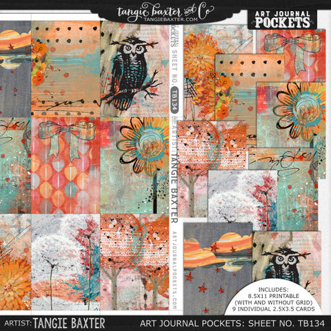 Art Journal Pockets™ Sheet No. 134