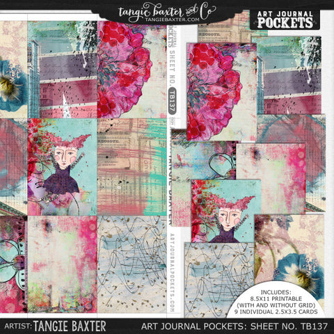 Art Journal Pockets™ Sheet No. 137