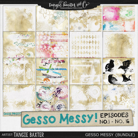 Gesso Messy No.1-No.16 {Bundle}