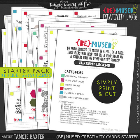 -{BE}MUSED Creativity Cards