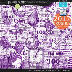 2017 Brush of the Month Club -April Brushes