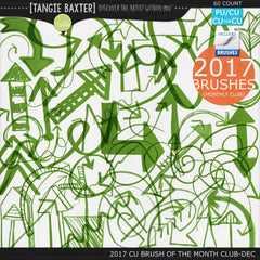 2017 Brush of the Month Club - No. 12 December Brushes