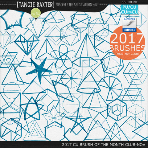 2017 Brush of the Month Club - No. 11 November Brushes