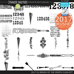 2017 Brush of the Month Club - No. 10 October Brushes
