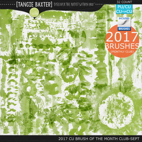 2017 Brush of the Month Club - September Brushes