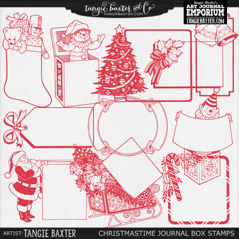 Christmastime Journal Box Stamps