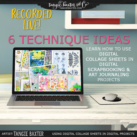 Using Digital Collage Sheets in Digital Projects