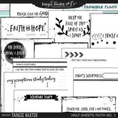 Tangible Plans™ Half Sheets Faith & Scripture Study No. 1