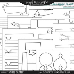 Tangible Plans™ Half Sheets Mind Maps (for Brainstorming)