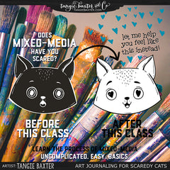 Mixed-Media Art Journaling for Scaredy Cats