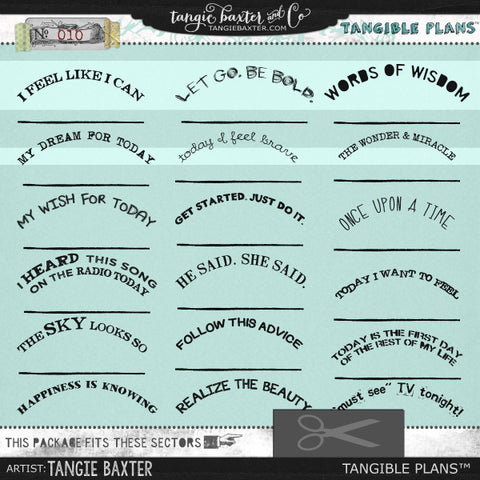 Tangible Plans™ {Add On No. 010}