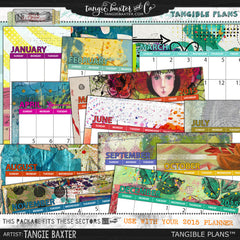 Tangible Plans™ {Add On No. *2015 Printable Calendar}