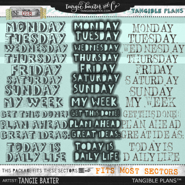 Tangible Plans™ {Add On No. 028}