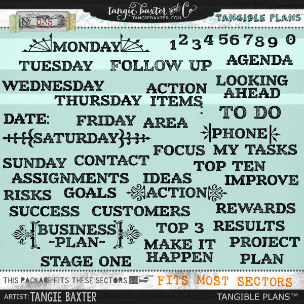 Tangible Plans™ {Add On No. 035}