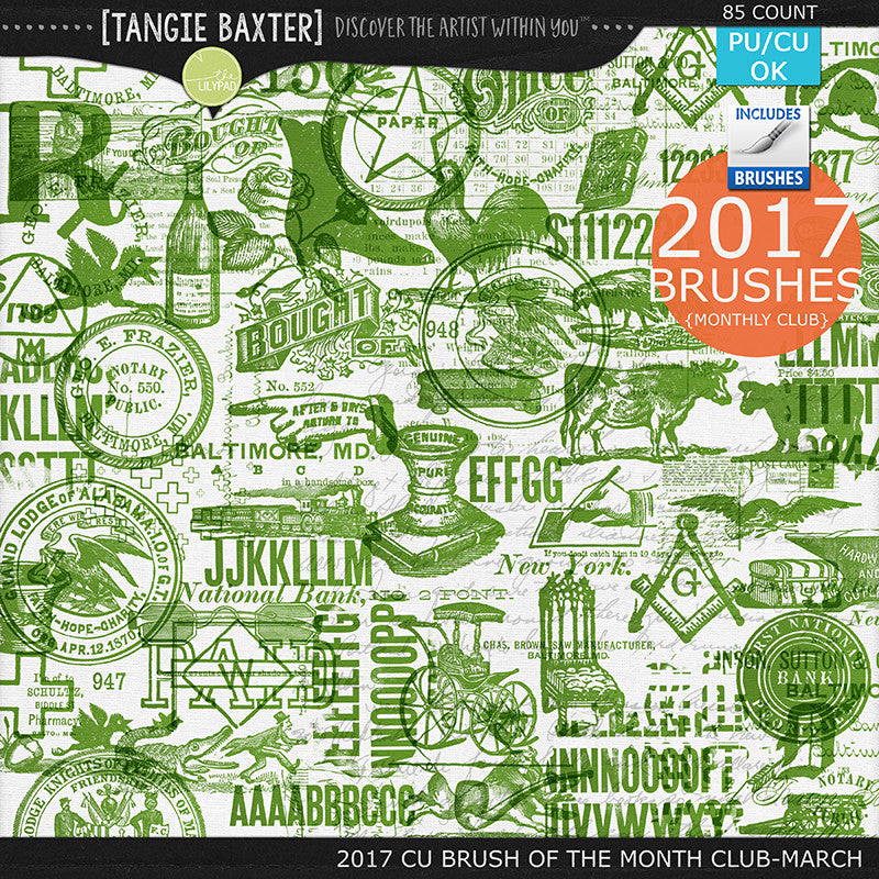 2017 Brush of the Month Club -March Brushes