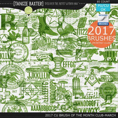 2017 Brush of the Month Club - No. 03 March Brushes
