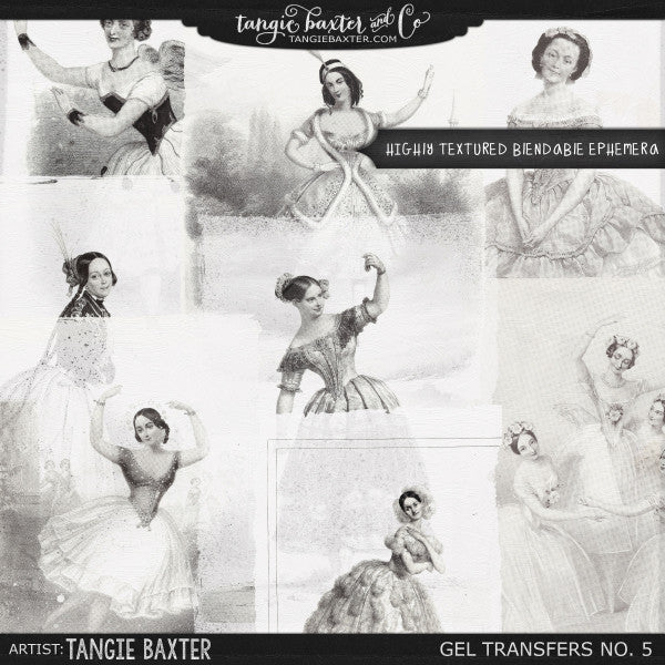 Gel Transfers No. 5 {Ballet}