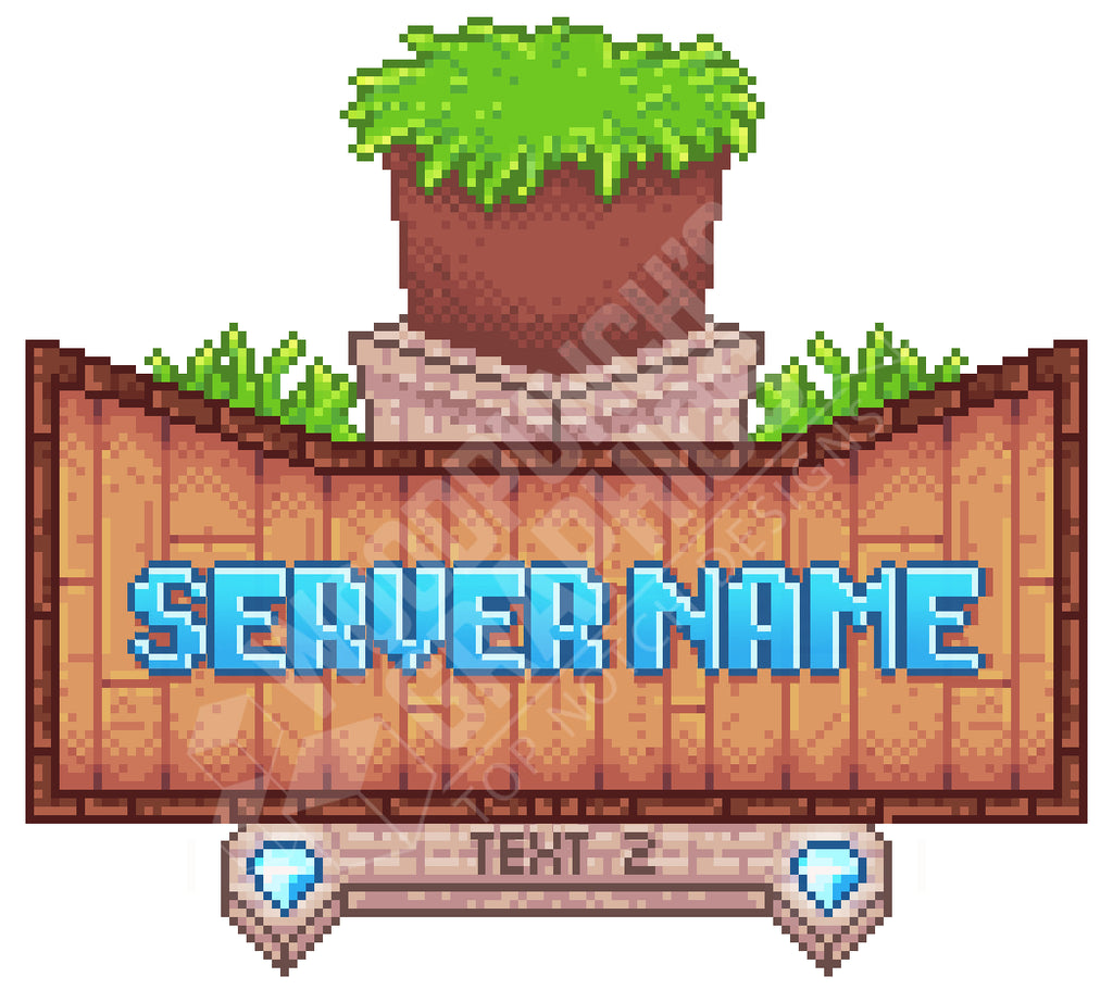 Pixelated Logo Template - Minecraft Server Logo Maker