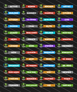 52 Minecraft Forum Ranks Pack - Now Available!