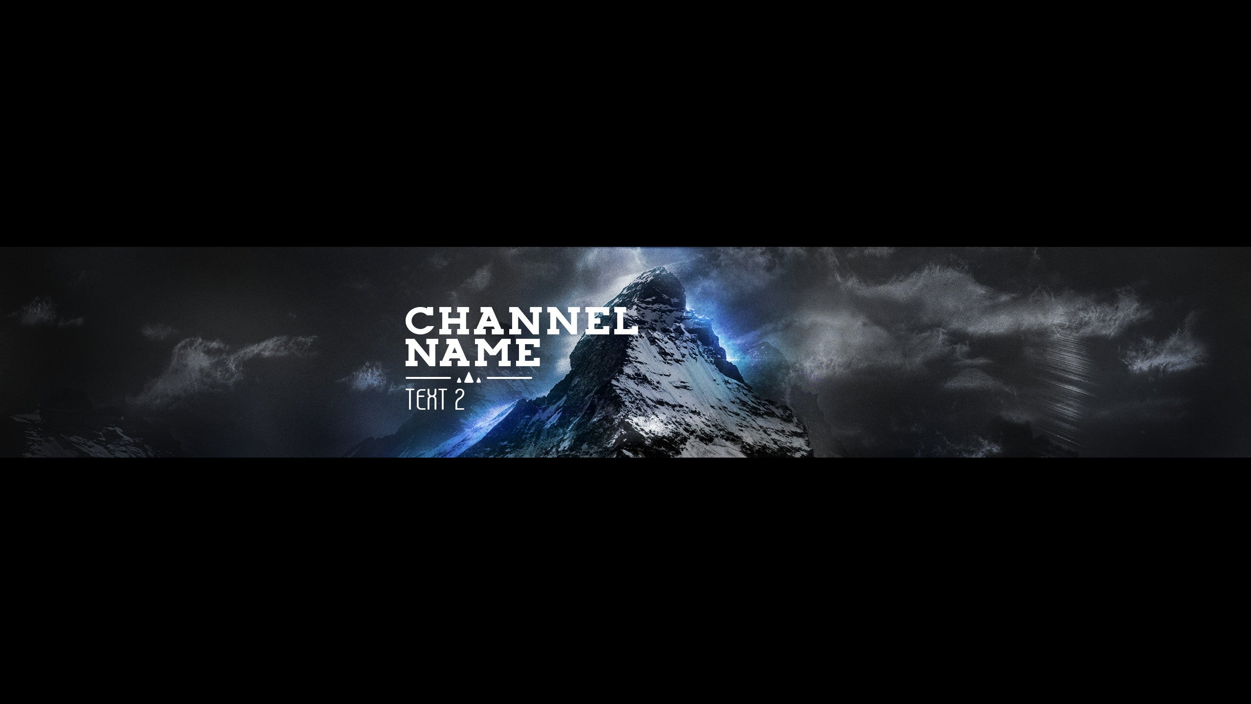 youtube channel banner template mountain top