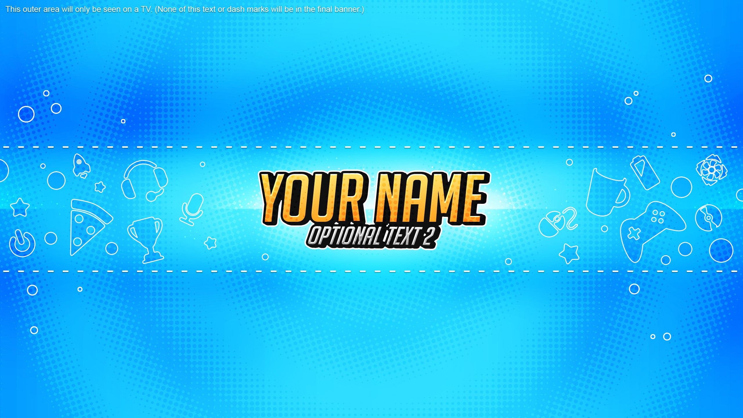 Youtube Channel Banner Template Gamer Woodpunchs