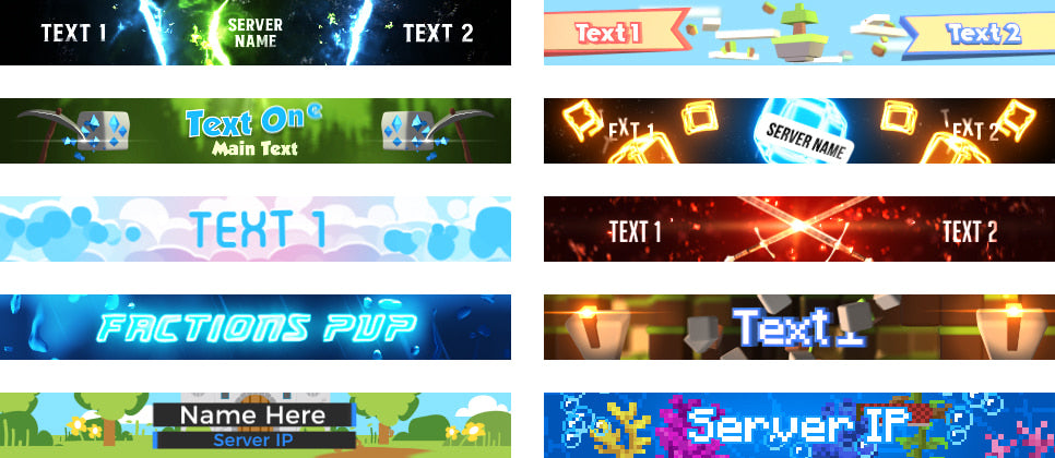 Minecraft Server Banner Guide Woodpunch s Graphics Shop