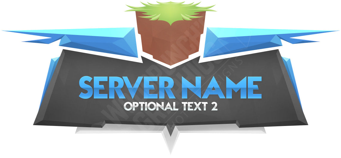 Super Crystal Server Logo Blue