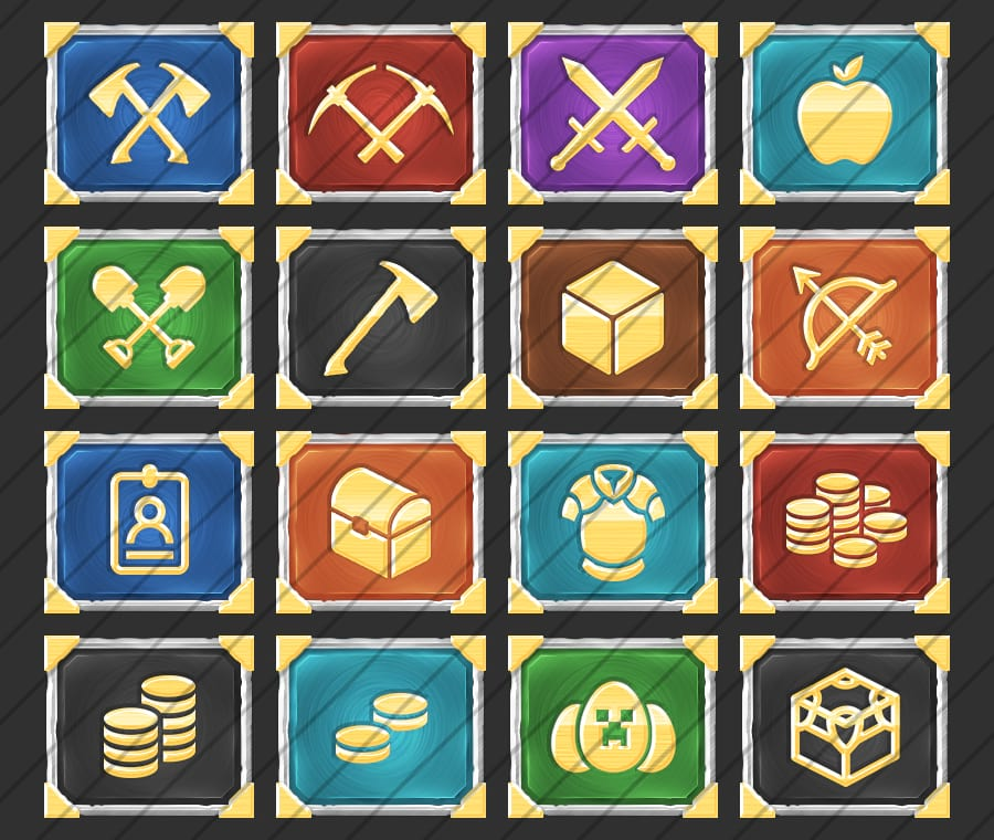 Crafted - Buycraft Icons Pack