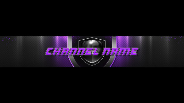 Champion YouTube Channel Banner Purple