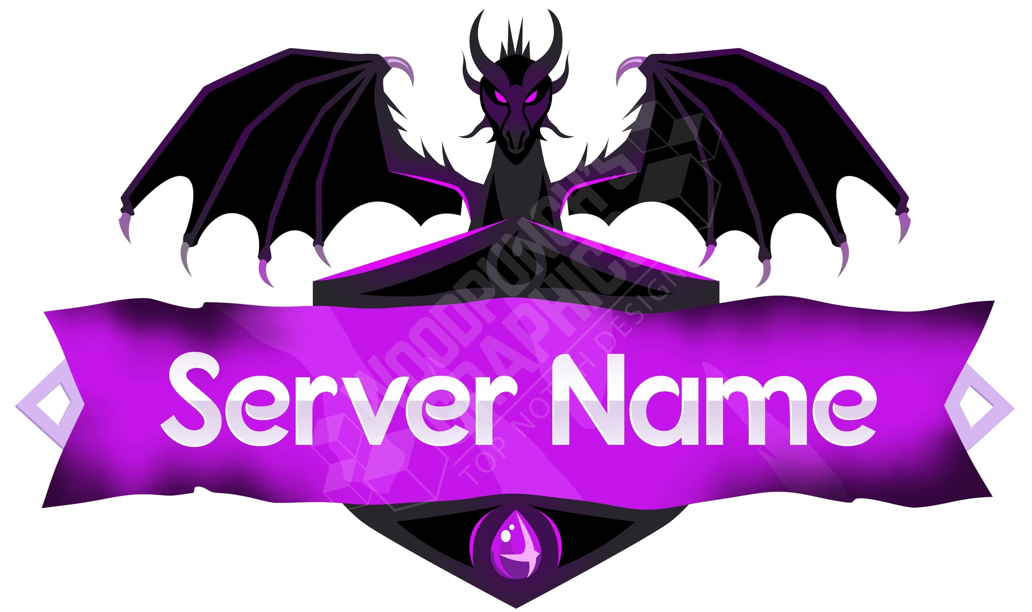 Ender Dragon - Minecraft Server Logo