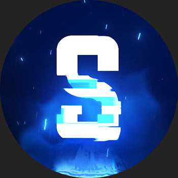 Glitch Discord Server Icon Blue 2