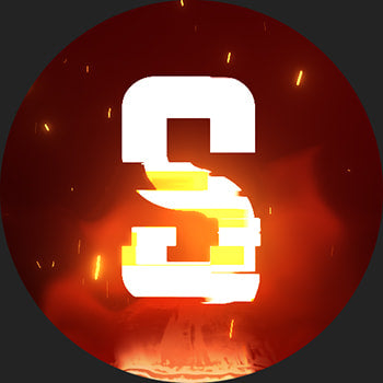 Glitch Discord Server Icon Orange 2