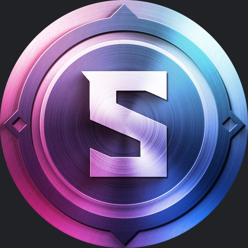 Medallion blue and pink - Discord pfp